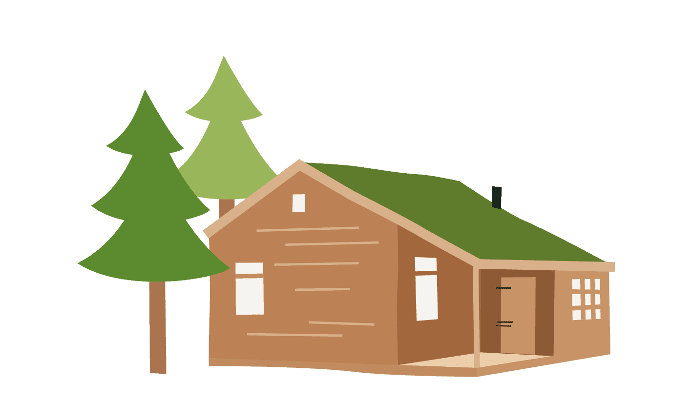1417x824 Log Cabin Family Glamping With Feather Down In The Countryside