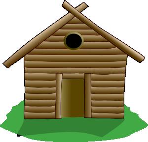 300x289 Log Cabin Clip Art