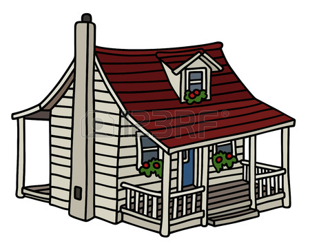 450x360 Old Wooden Planked Small House Royalty Free Cliparts, Vectors,