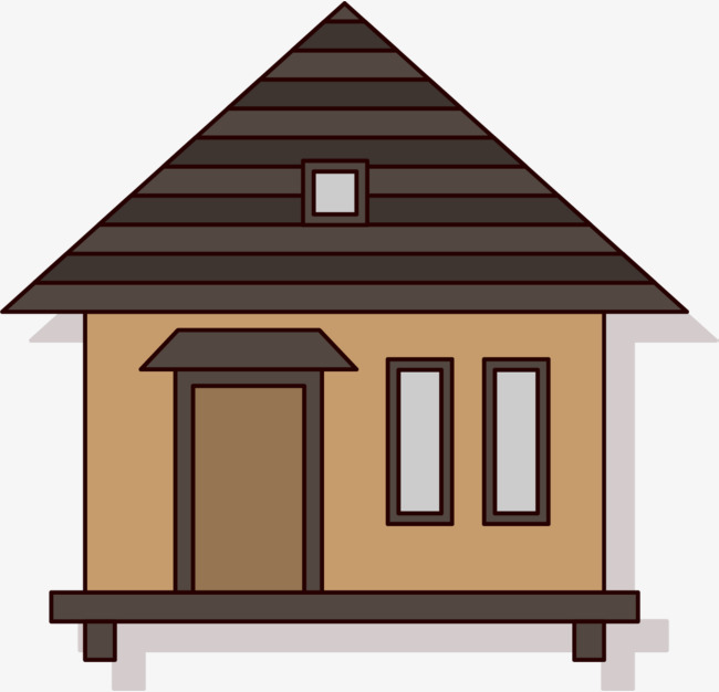 Hut House Logo: Free Download Best Log Cabin Cartoon