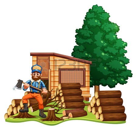 Log Cabin Clipart