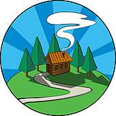 170x170 Log Cabin Clip Art
