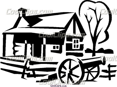 375x279 Wagon Clipart Log Cabin