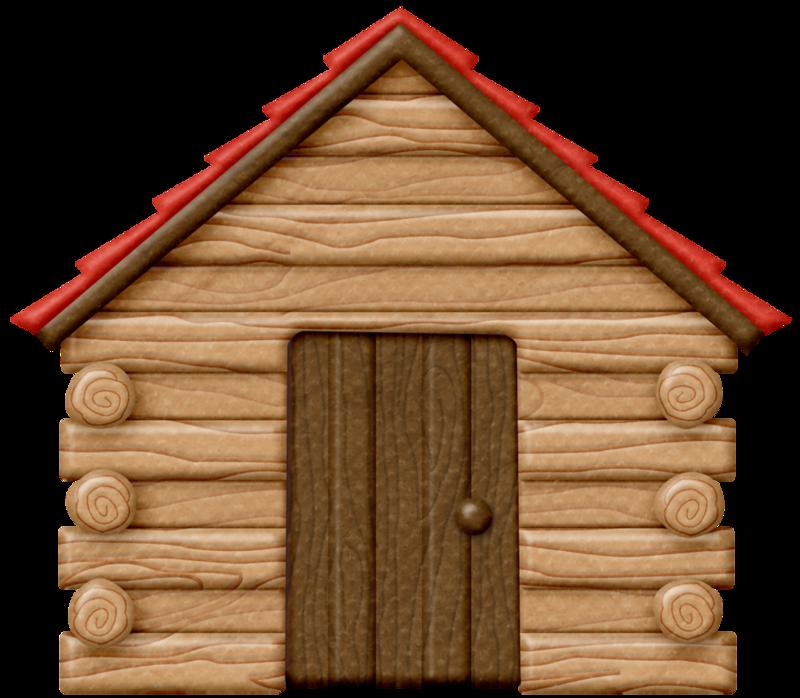 800x698 Camping Stuff Log Cabins, Clip Art