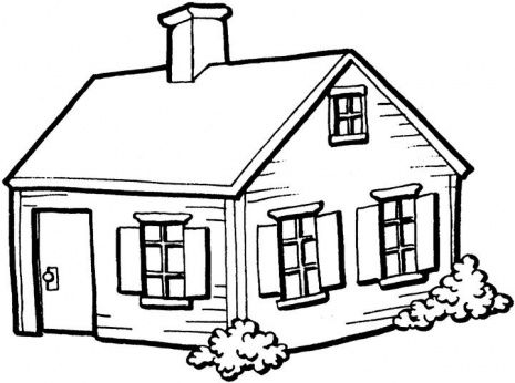 465x346 Best House Clipart Coloring Black White