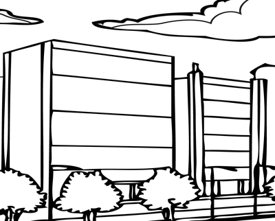 400x322 City Coloring Sheets Page Image Clipart Images