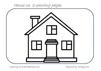 350x247 House Coloring Pages