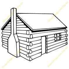 236x236 Lodge Clipart Log Cabin