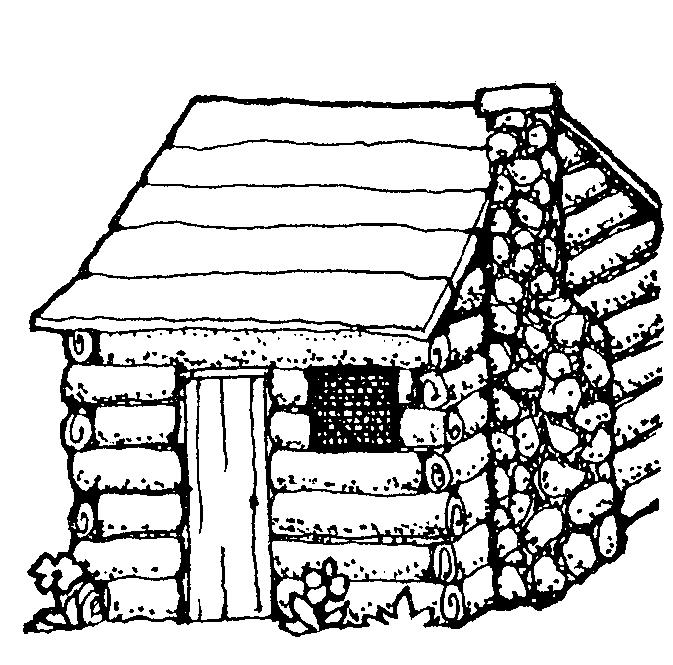 673x665 Log Cabin Coloring Page Clipart Panda