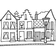 230x230 Top 20 Free Printable House Coloring Pages Online