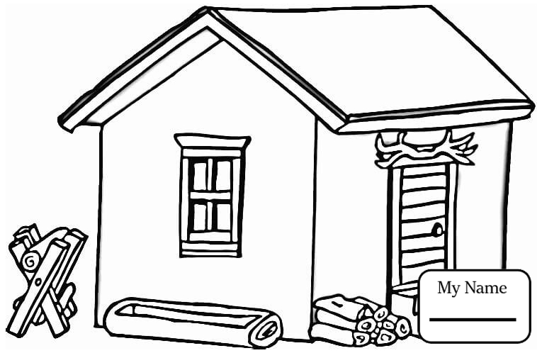 765x498 Coloring Pages Houses Arts Culture Log Cabin