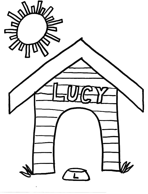 600x786 House Coloring Page