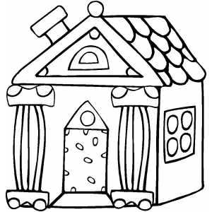 300x300 House Coloring Pages