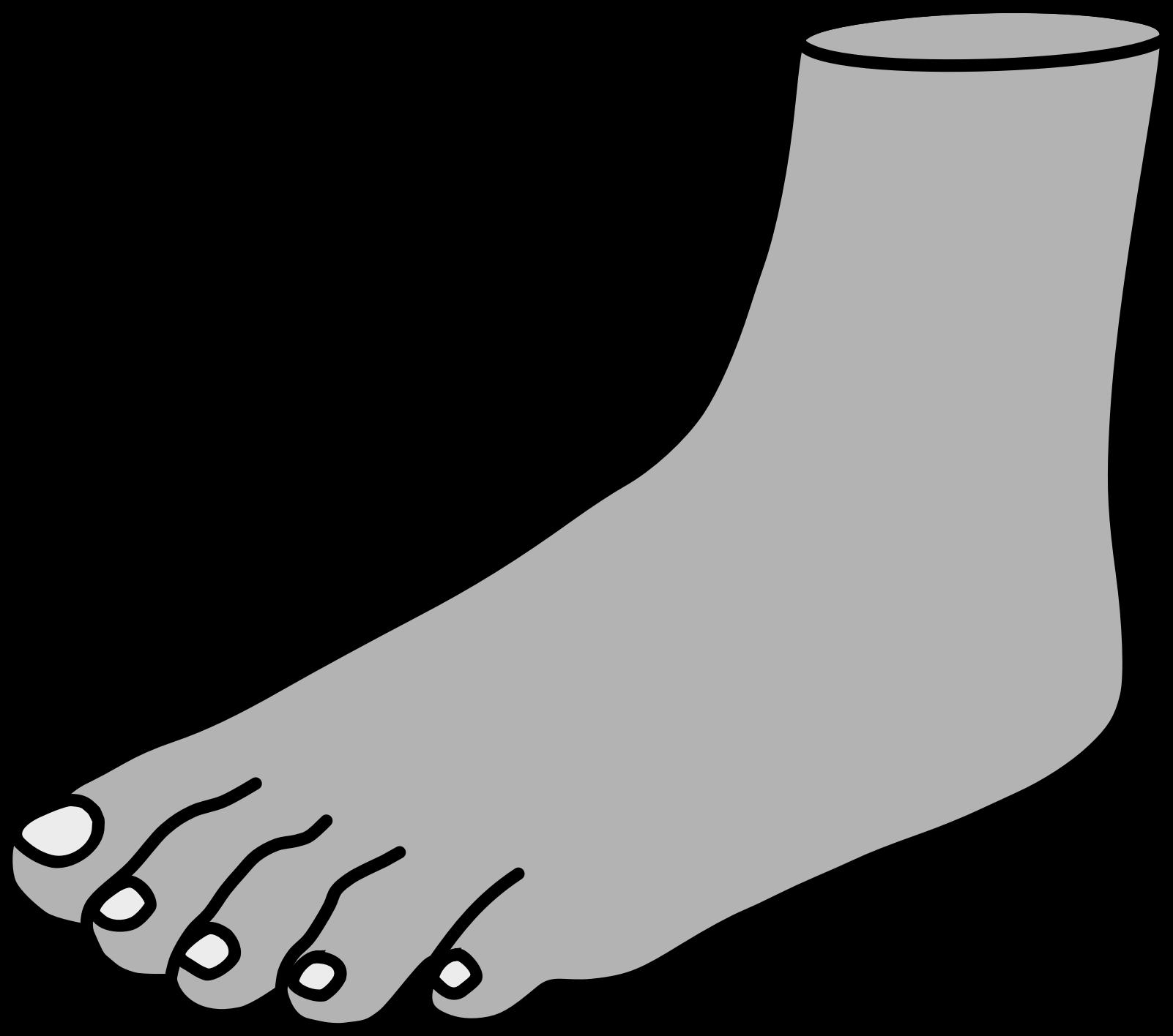 1602x1416 Clipart Foot
