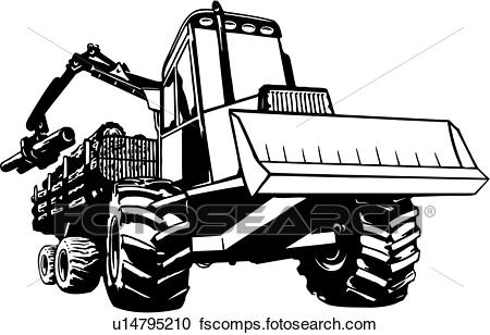 450x308 Clipart Of Logging, Construction, Heavy, Industrial, Log, Mover