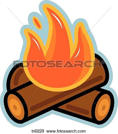 415x470 Log Fire Clipart