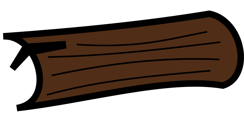 960x480 Wood Clipart Tree Log