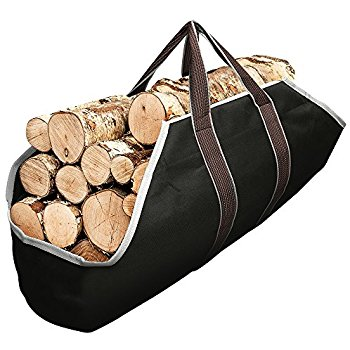350x350 Large Canvas Log Tote Bag Carrier Indoor Fireplace