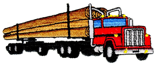 500x209 Long Logging Truck Embroidery Designs, Machine Embroidery Designs