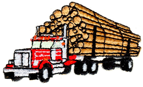 500x306 Small Logging Truck Embroidery Designs, Machine Embroidery Designs