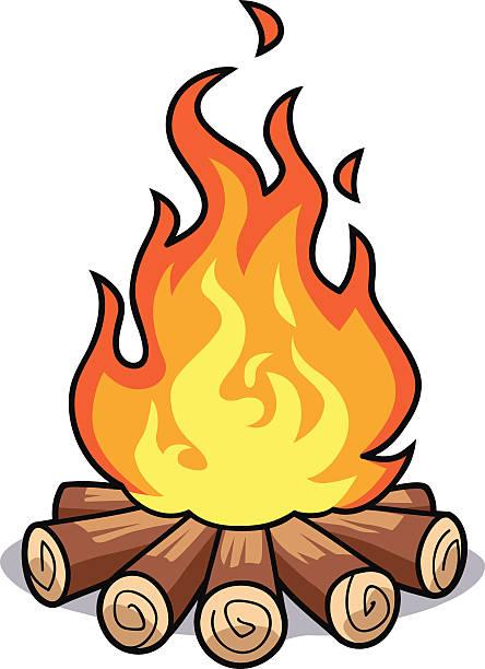444x612 Log Fire Clipart