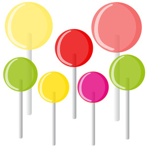 300x300 Colorful Vector Lollipop Royalty Free Stock Image