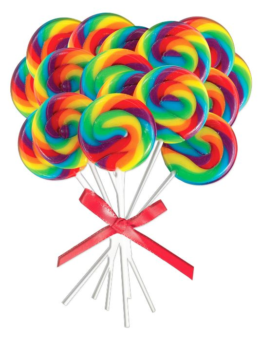 536x700 Rainbow lollipop clipart