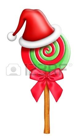 253x450 Kawaii Whimsical Cute Cartoon Christmas Lollipops Stock Photo