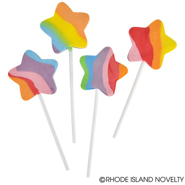 600x600 Rainbow Star Lollipops