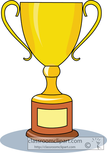 350x500 Clipart Free Trophy