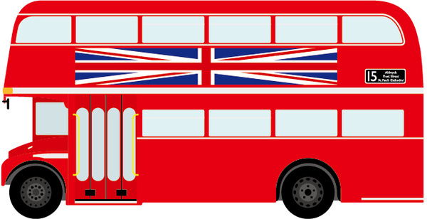 600x308 Red Clipart London Bus
