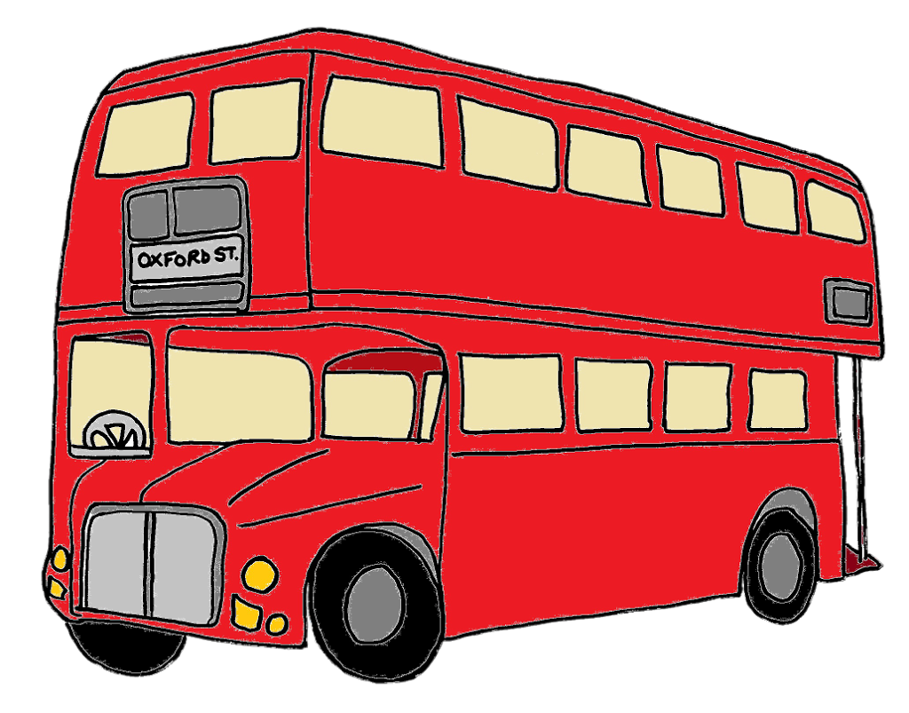 1024x803 Red Clipart London Bus
