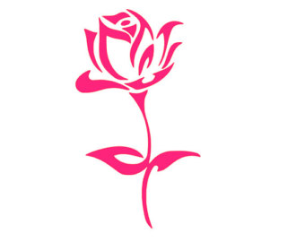 340x270 Pink Rose Clipart Long Stem