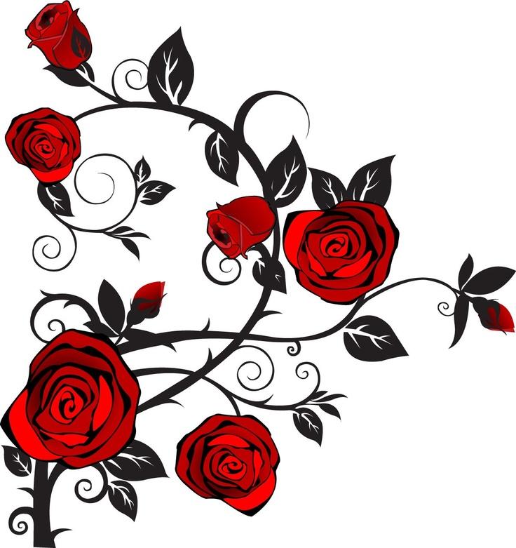 Long Stem Rose Tattoos Clipart Free Download Best Long Stem Rose