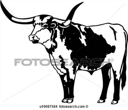 450x385 Longhorn Cattle Clipart Bull