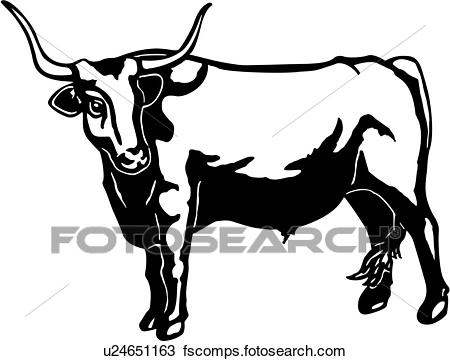 450x361 Longhorn Bull Clipart And Illustration. 729 Longhorn Bull Clip Art