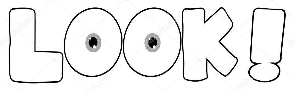 1024x318 Outline Cartoon Text Look Stock Photo Hittoon
