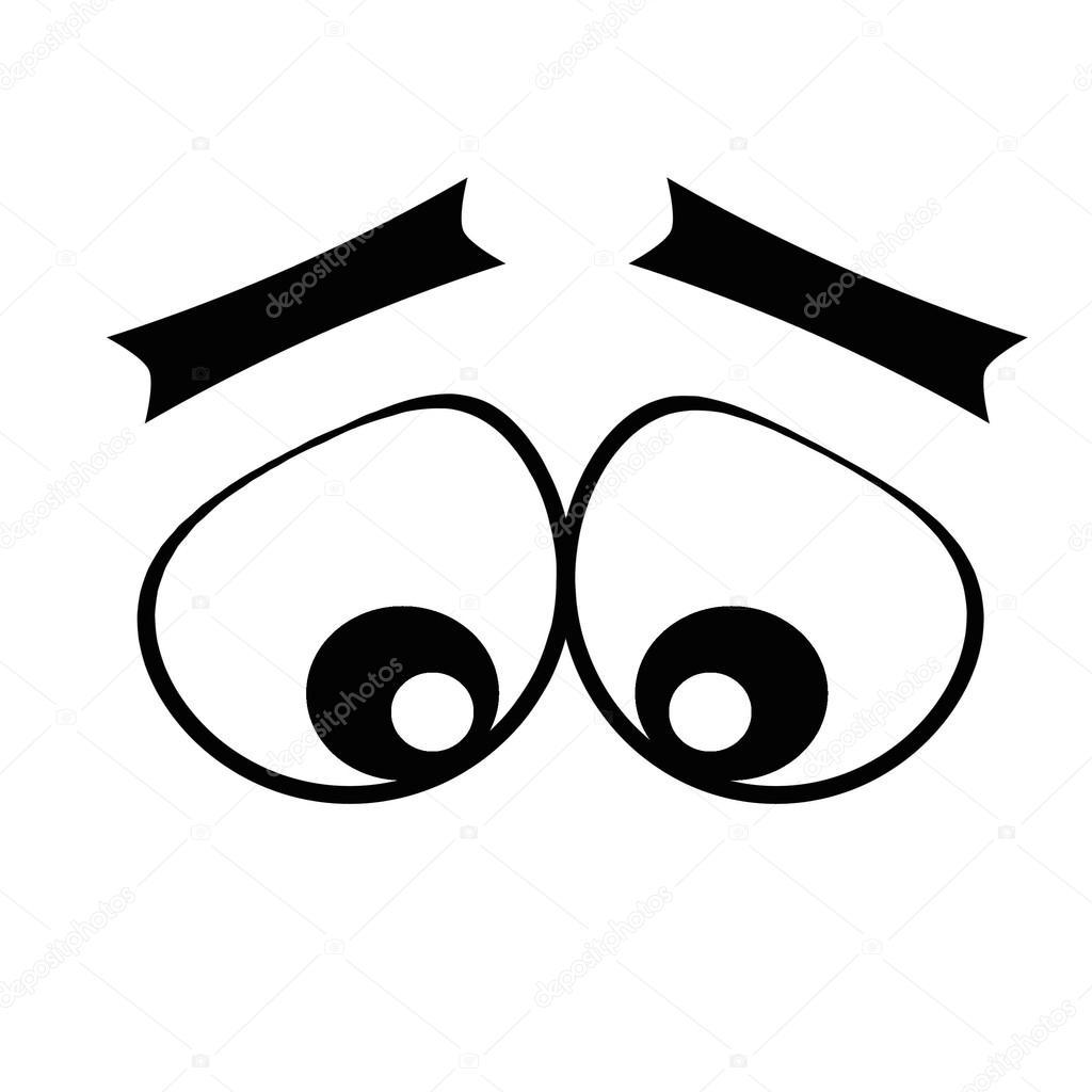 1024x1024 Cartoon Eyes.sad Stock Photo Varlakova