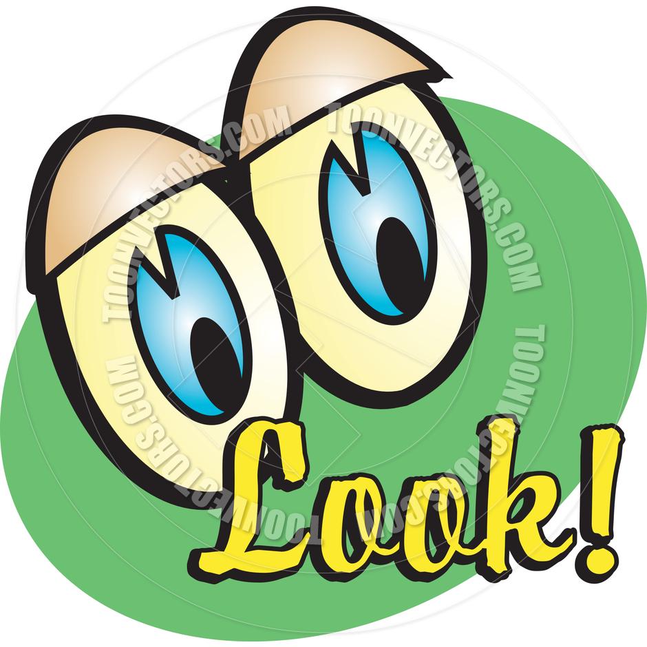 940x940 Cartoon Eyes Look Vector Illustration By Clip Art Guy Toon