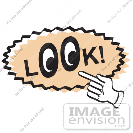 450x450 Royalty Free Cartoon Clip Art Of A Vintage Sign Showing A Hand