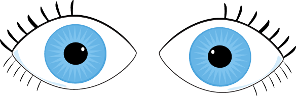 584x190 Eyeball Clipart Eye Contact
