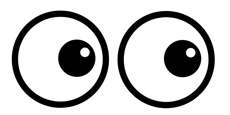 800x400 Free Clipart Cartoon Eyes Prawny