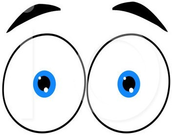 353x277 Free Clipart For Eyes