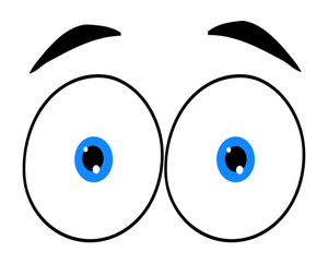 300x242 Surprised Eyes Clipart Kid