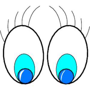 300x300 Looking Eyes Clip Art Free