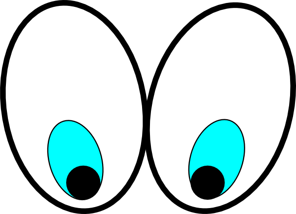 600x434 Cartoon Eyes(Looking Down) Clip Art