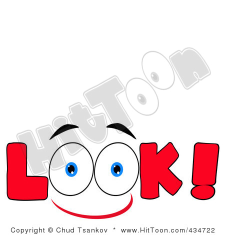 450x470 The Word Look With Eyes Clipart