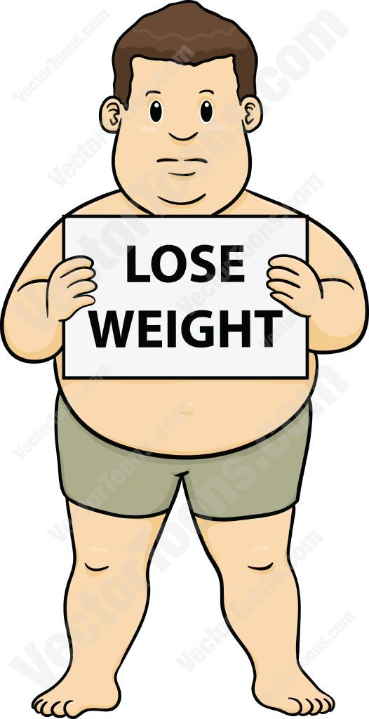 526x1024 Overweight Man In Shorts Holding A Sign That Says Lose Weight