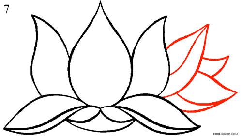 500x283 How To Draw Lotus Flower (Step By Step Pictures) Cool2bkids