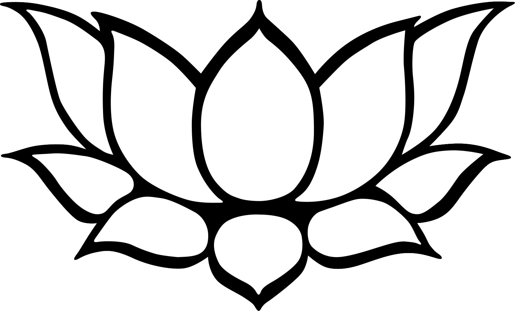 1670x1010 Lotus Line Drawing Clipart